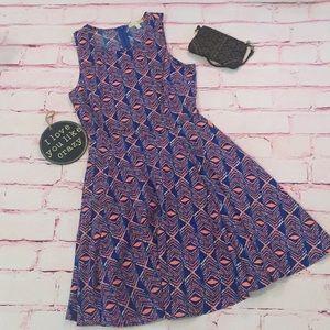 GB Royal and Tangerine dress